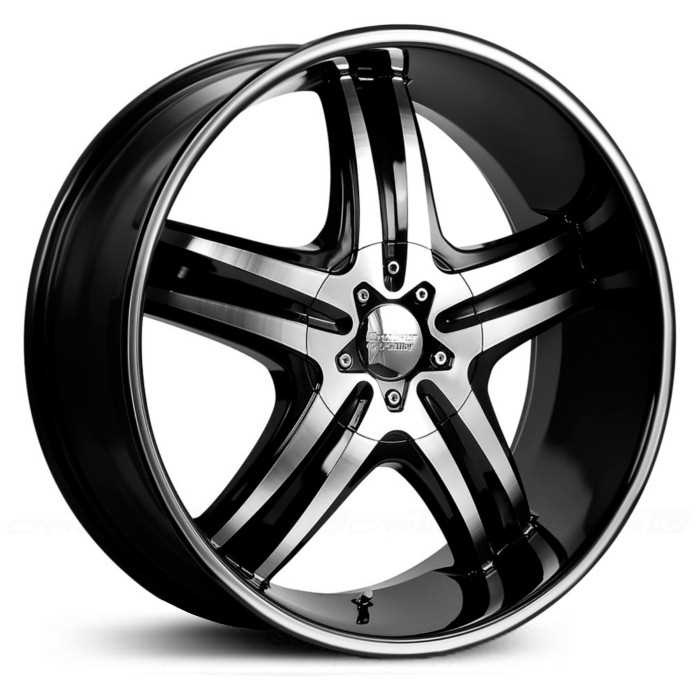 Cruiser Alloy 908MB Impulse  Wheels Gloss Black Machined Face