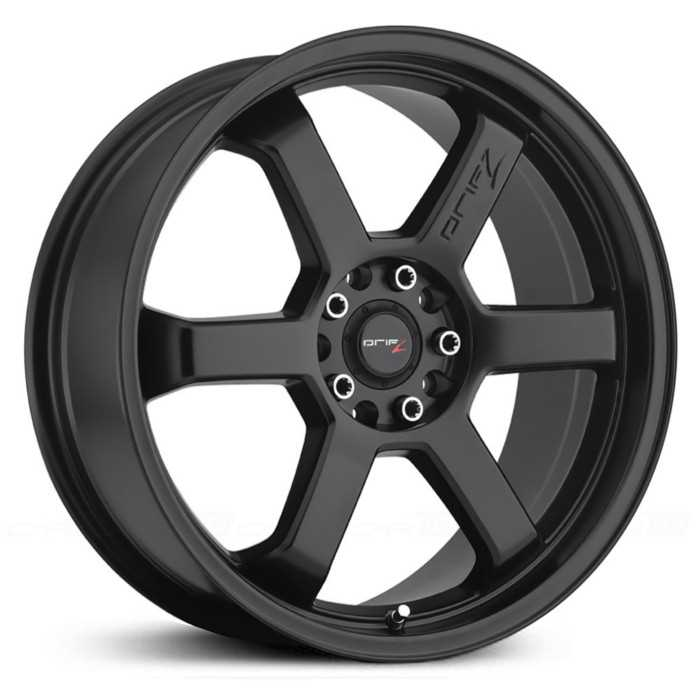 Drifz 303B Hole Shot  Wheels Satin Black