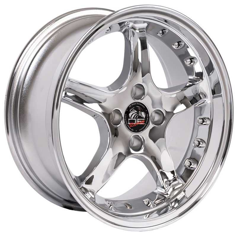 Fits Ford Mustang Cobra 4 Lug FR04  Wheels Deep Dish Chrome Lip