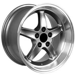 Fits Ford Mustang Cobra 5 Lug FR04  Wheels Gunmetal Deep Dish