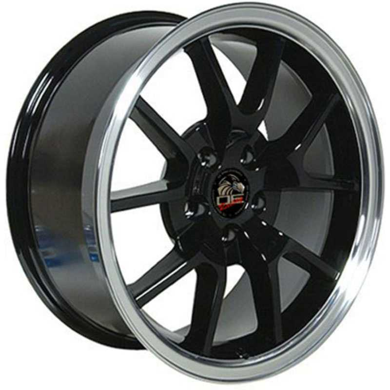 Fits Ford Mustang FR500 FR05  Wheels Black Machined Lip
