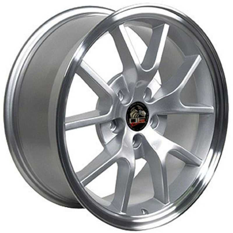Fits Ford Mustang FR500 FR05  Wheels Silver Machined Lip