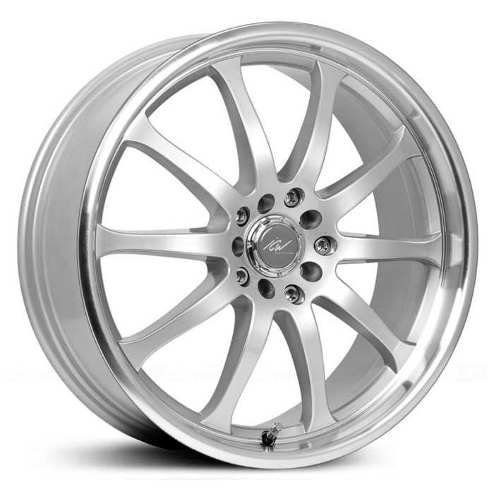ICW Racing Bonzai 211MS  Wheels Titanium Silver Mach. Lip