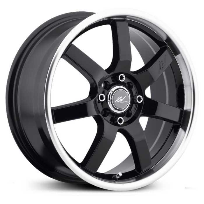 ICW Racing Osaka 213MB  Wheels Gloss Black Mach. Lip