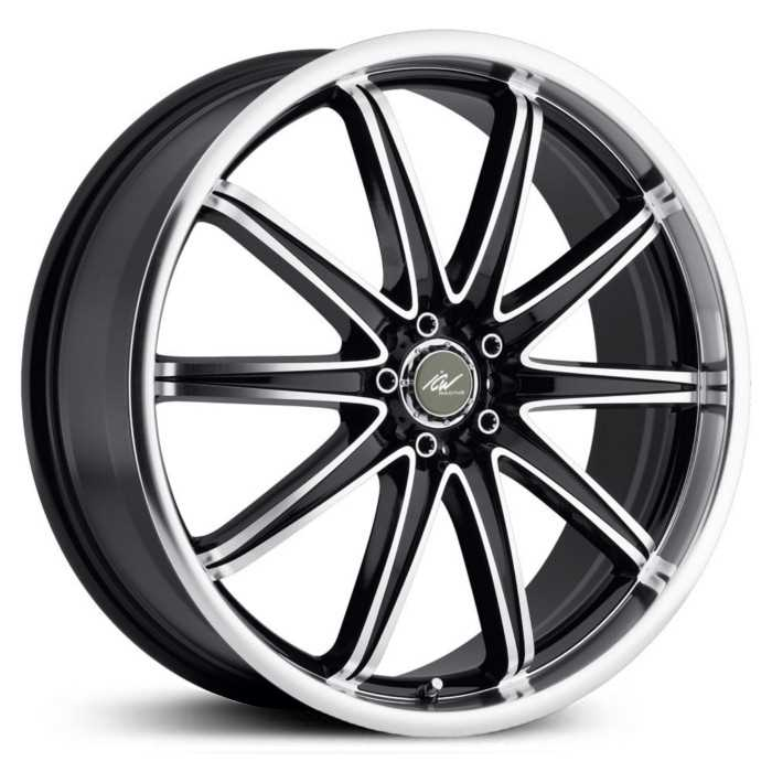 ICW Racing Tsunami 214MB  Wheels Gloss Black Mach. Lip