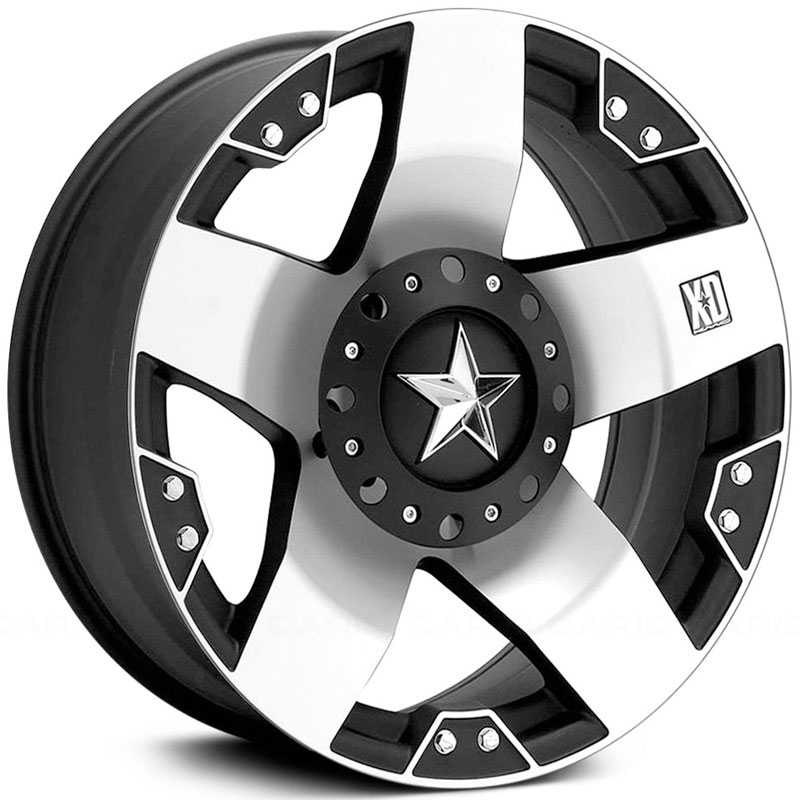KMC 775 XD Series Rockstar  Wheels Matte Black Machined