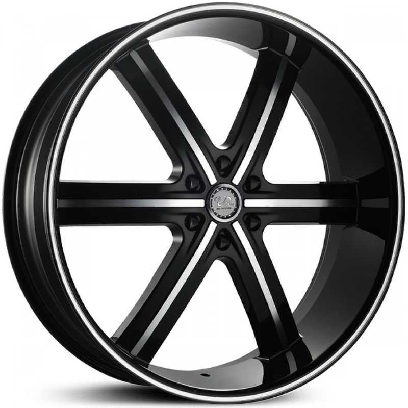 U2 055 S-B  Wheels Black Machined