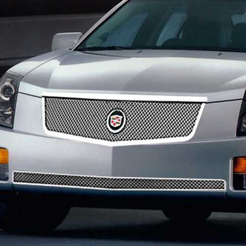 Cadillac Cts E And G Chrome Classic Pc Dual Weave Mesh Grille D Pic