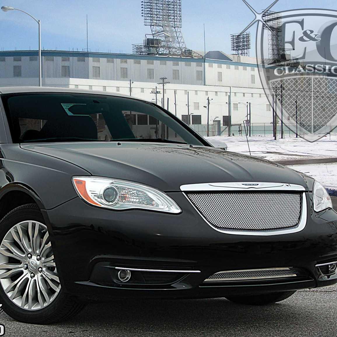 E&G Classics 2011-2014 Chrysler 200 Grille 2Pc Fine Mesh