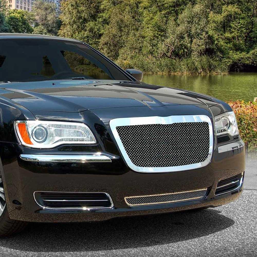 E&G Classics 2011-2014 Chrysler 300 Grille Black Ice Fine