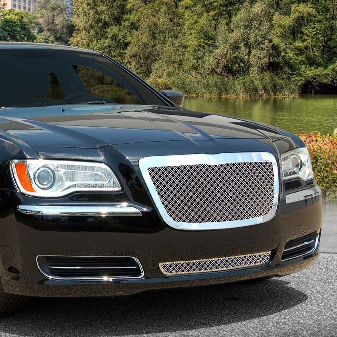 E&G Classics 2011-2014 Chrysler 300 Grille Dual Weave Mesh With Mesh Lower - 1099-0104-11DS