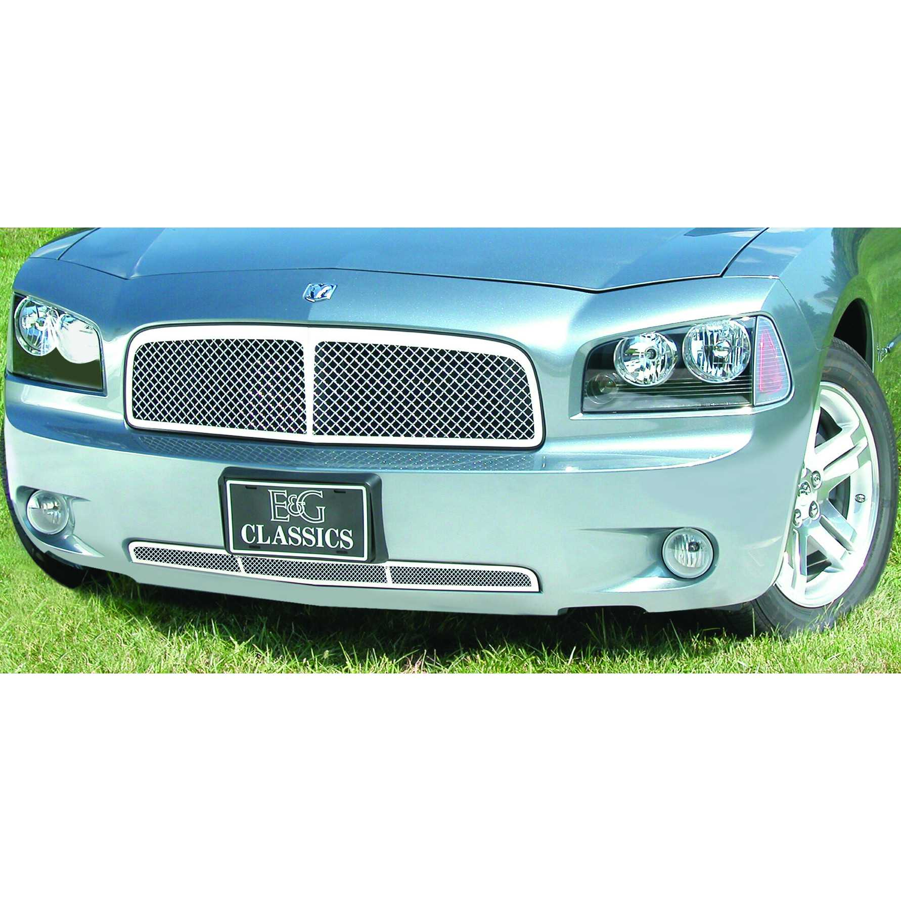 E&G Classics 2006-2010 Dodge Charger Heavy Metal Mesh Grill w/Center Bar 1350-0104-06CB