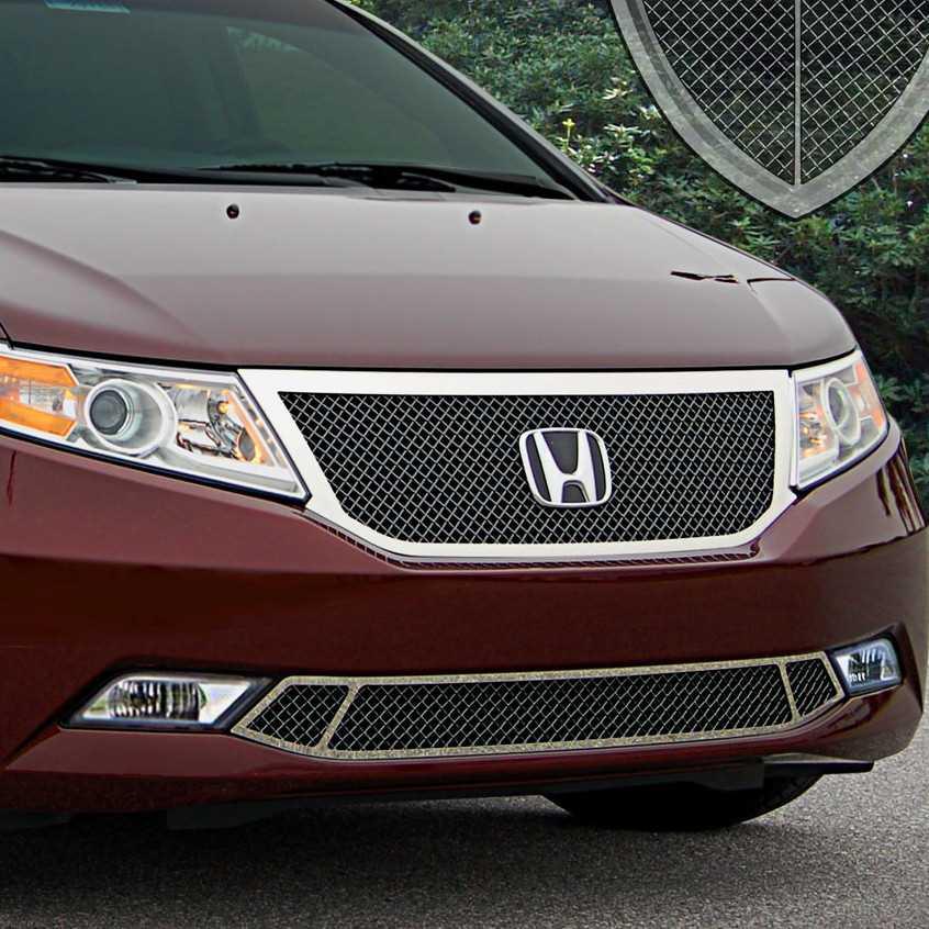 Tire Price Match >> E&G Classics 2011-2013 Honda Odyssey Grille 2 Pc Heavy Mesh Grille Black Ice - 1125-B104-11