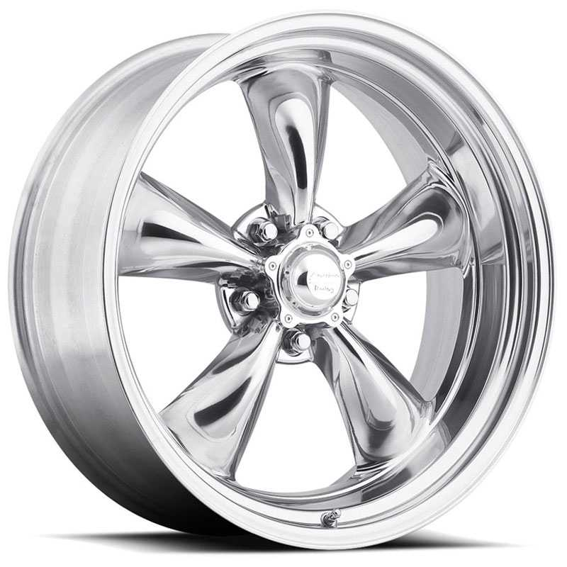 16x8 American Racing VN815 Hot Rod Torq Thrust II Bright PVD 1 Piece REV
