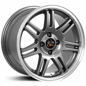 Fits Ford Mustang 4L 10th Anniv. FR07  Wheels Gunmetal Deep dish Machined Lip