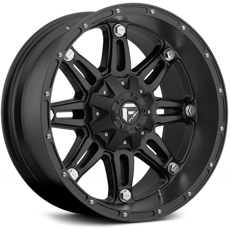 17x9 Fuel Offroad D531 Hostage Matte Black REV
