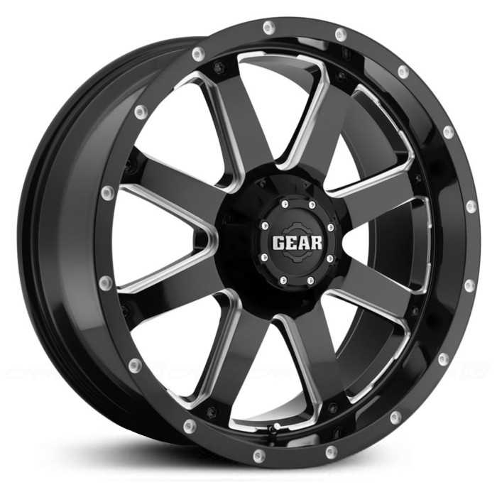 Gear Alloy Big Block 726MB  Wheels Gloss Black w/ Milled Accents