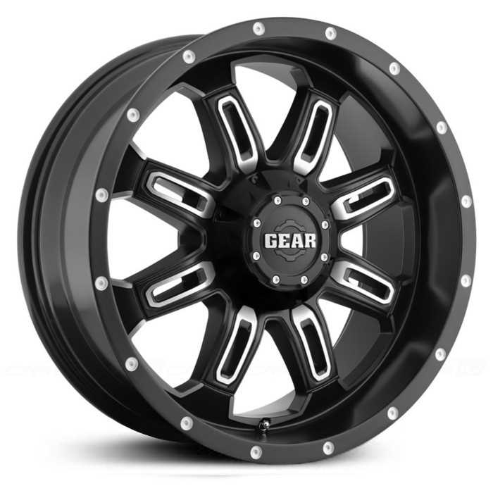 Gear Alloy Dominator 725MB  Wheels Satin Black w/ Machined Accents