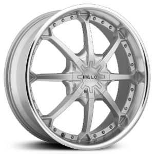 20x8.5 Helo 871 Silver w/ Machined Lip HPO
