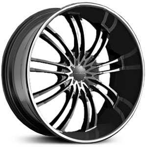 KMC KM682  Wheels Gloss Black w/ Machined Face