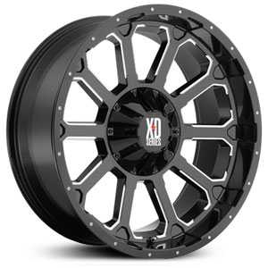 KMC 806 XD Series Bomb  Wheels Gloss Back Milled