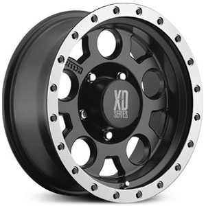 KMC XD Series XD125  Wheels Matte Black w/ Machined Bead Ring