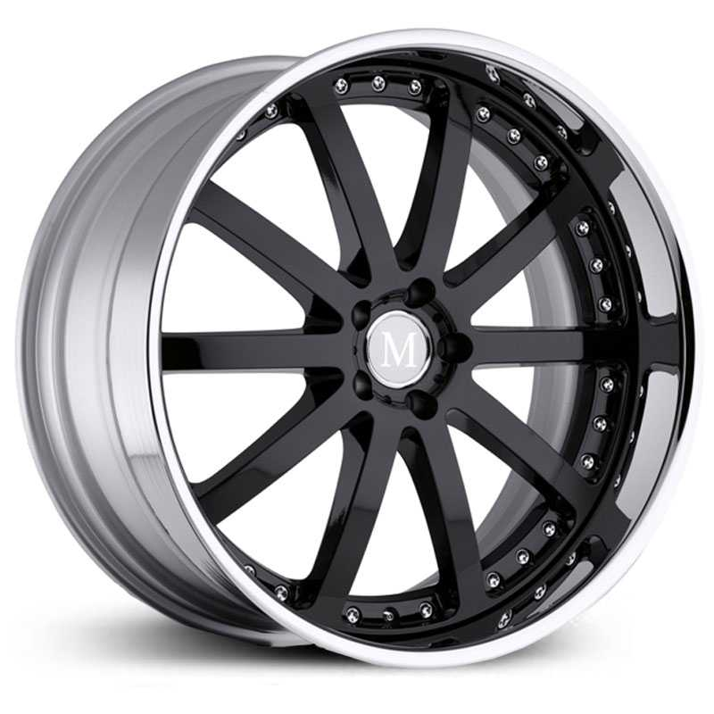 Mandrus Velo  Wheels Gloss Black w/ Chrome Lip