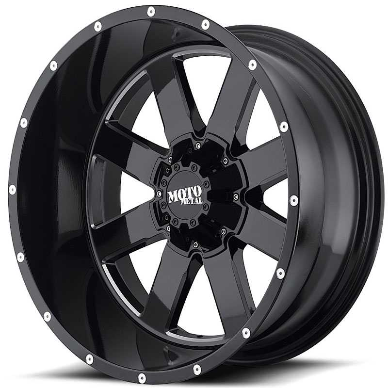 Moto Metal MO962  Wheels Gloss Black Milled
