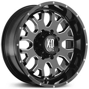 XD Series XD808  Wheels Gloss Black w/ Milled Accents