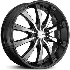 Helo HE875  Rims Gloss Black w/ Chrome Accents