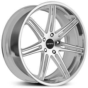 Lorenzo 198  Wheels Silver Machined Face w/ SS Lip