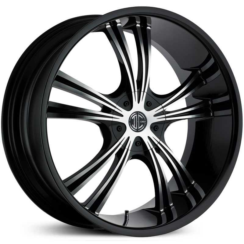 2Crave No 02  Wheels Glossy Black / Machined Face / Glossy Black Lip