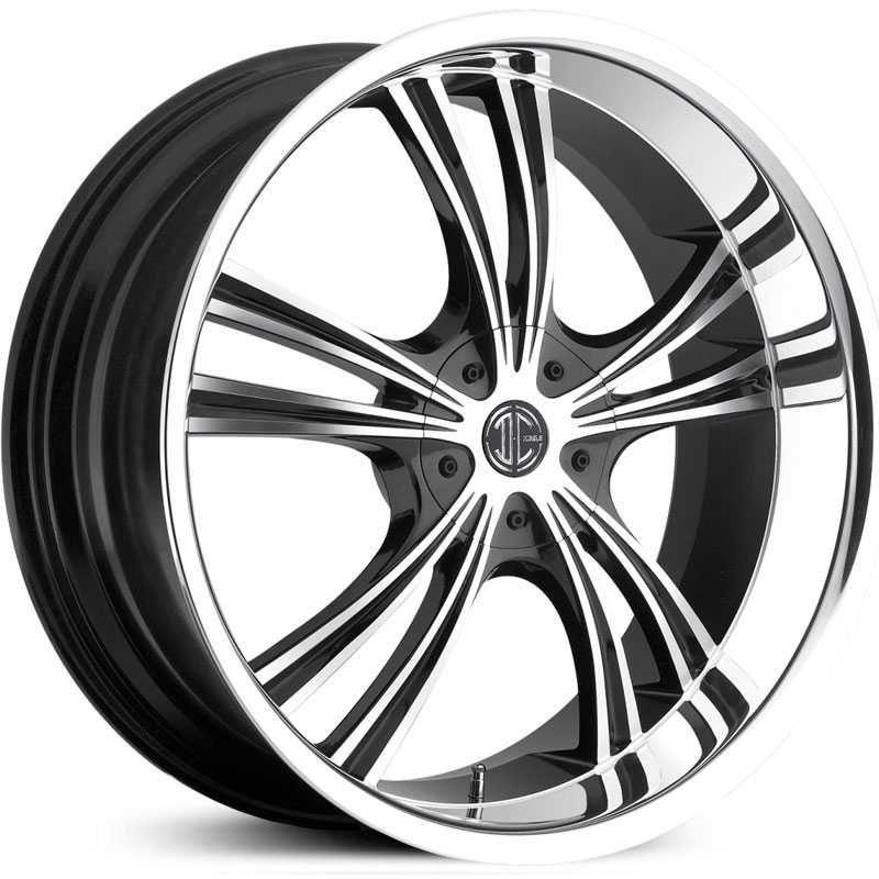 2Crave No 02  Wheels Glossy Black / Machined Face / Chrome Lip