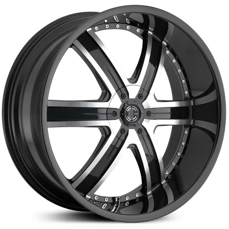 2Crave No 04  Wheels Glossy Black / Machined Face / Glossy Black Lip