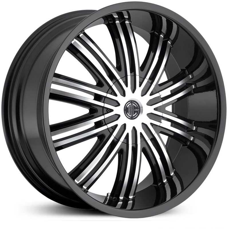 2Crave No 07  Wheels Gloss Black Machined Face