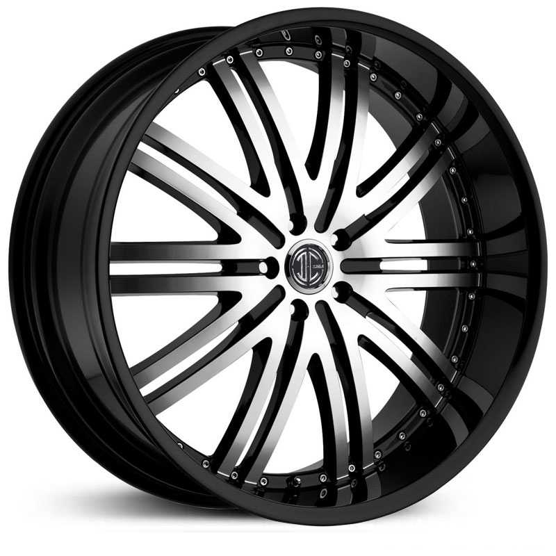 2Crave No 11  Wheels Glossy Black / Machined Face / Glossy Black Lip