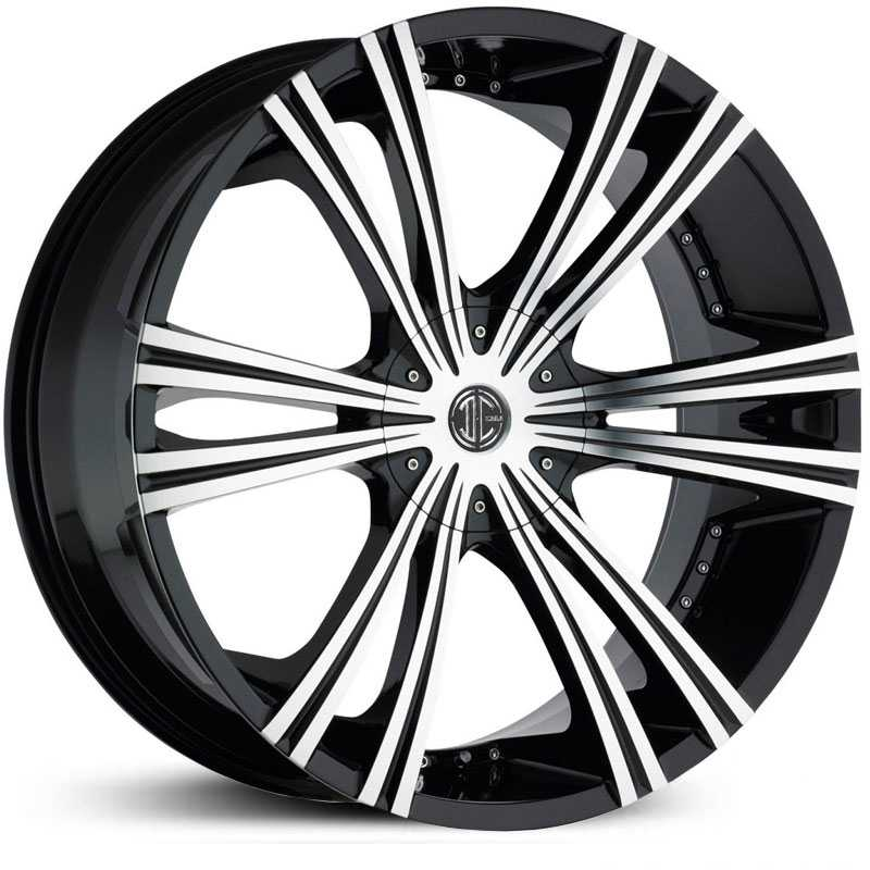 2Crave No 12  Wheels Glossy Black / Machined Face
