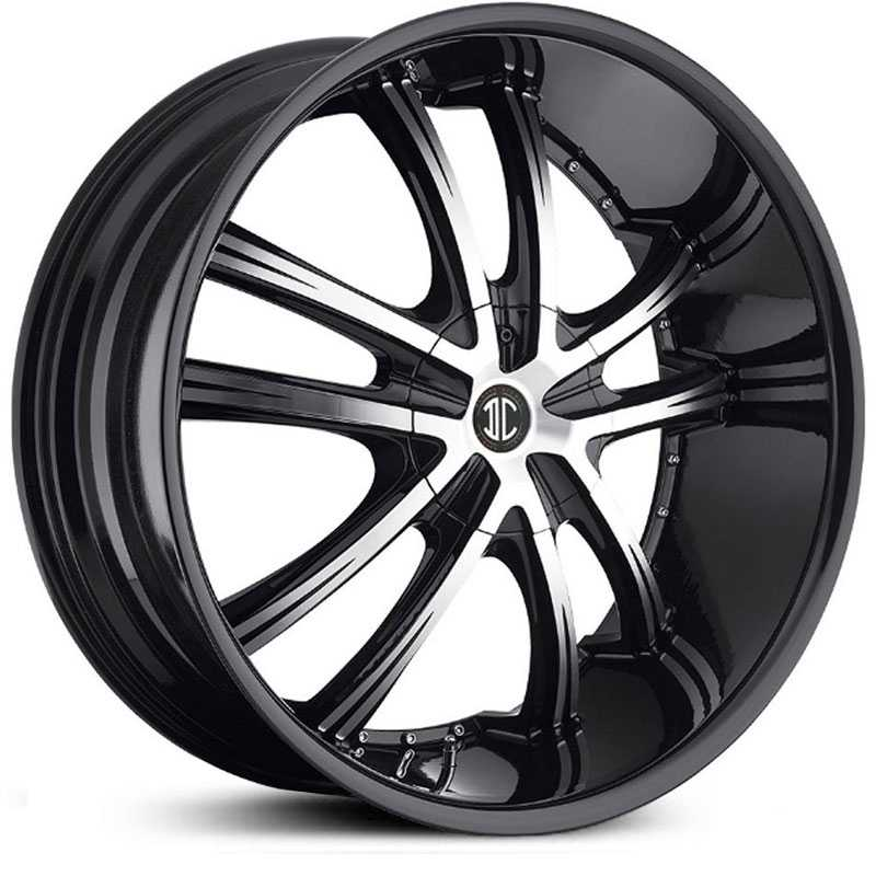 2Crave No 21  Wheels Glossy Black / Machined Face / Glossy Black Lip