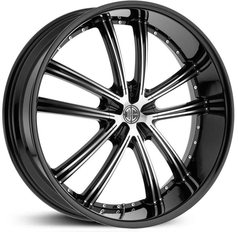 2Crave No 24  Wheels Glossy Black / Machined Face / Glossy Black Lip