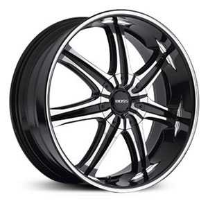 Boss 345  Wheels Superfinished Black