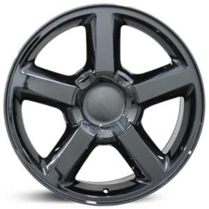 Chevy 083 Tahoe  Wheels Black Chrome
