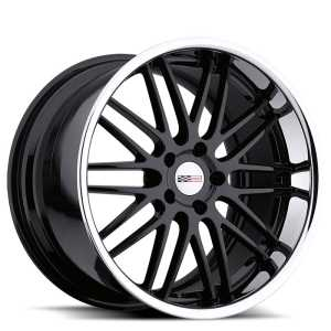 Cray Hawk  Wheels Gloss Black w/ Chrome SS Lip