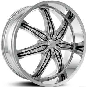 26x10 Effen Hurricane Chrome/Black Inserts RWD
