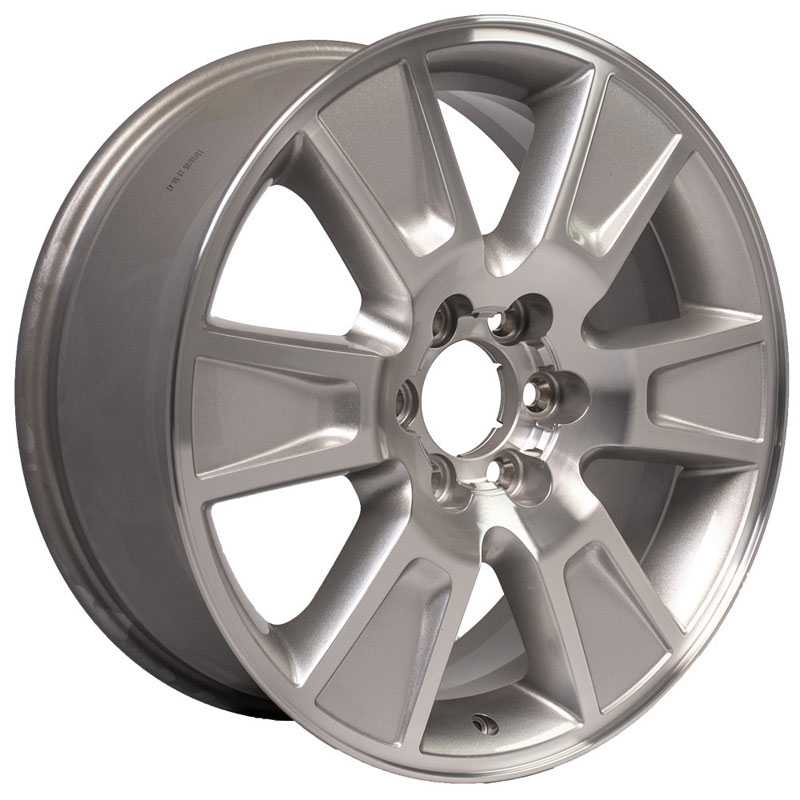 Fits Ford F-150 Style  Wheels Silver Machined Lip