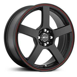MSR 091  Wheels Black w/ Red stripe