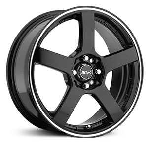 MSR 091  Wheels Black with Superfinish Stripe