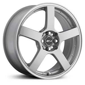 MSR 091  Wheels Silver w/ Lip Groove