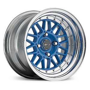 MSR 228  Wheels Polished with Blue center
