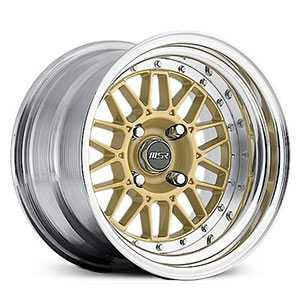 MSR 228  Wheels Polished with Gold center