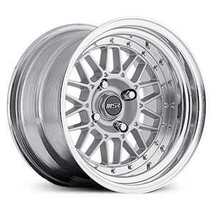 MSR 228  Wheels Polished with Silver center